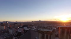 Delano Casino and Mandalay Bay, Las Vegas- Day Aerial Footage Stock Footage