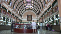Saigon Post Office Interior Stock Footage