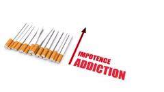 Health hazards of smoking Stock Footage