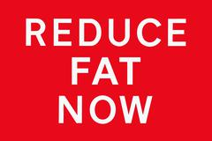 Red white REDUCE FAT NOW - stock illustration