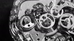 Clock mechanism made in the technique of toning Stock Footage
