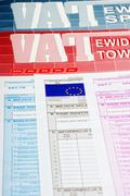 Vat tax - Polish documents Stock Photos