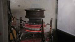Modern Metalworking technology. Ultrasonic Stock Footage