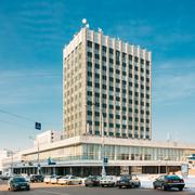 Office Building, Architecture in Lenin Avenue in Gomel, Belarus Stock Photos