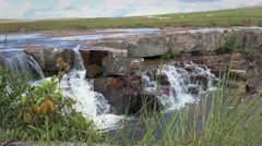 Chirimata Waterfalls Gran Sabana, Venezuela, near Roraima Mount Stock Footage