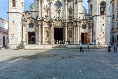 HAVANA, CUBA - APRIL 1, 2012: Cathedral of the Virgin Mary of the Immaculate  Stock Photos