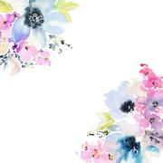 Greeting Card with Blooming Flowers Stock Illustration
