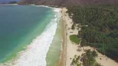 Aerial view of Cata Bay beach. Venezuela. Bahia de Cata Stock Footage