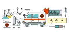 System Technology for Health Research Stock Illustration