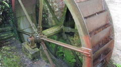 Turning water wheel - stock footage