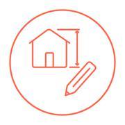 House design line icon Piirros