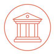 Stock Illustration of Museum line icon