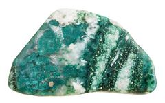 polished Chlorite mineral gem stone isolated - stock photo