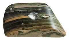 polished marl shale mineral gem stone - stock photo