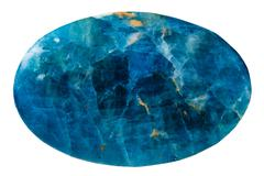 Stock Photo of oval blue kyanite mineral gemstone isolated