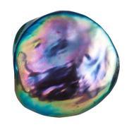 Cabochon from iridescent nacre gemstone isolated Stock Photos