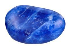 Lapis lazuli ( lazurite) mineral gemstone isolated Stock Photos