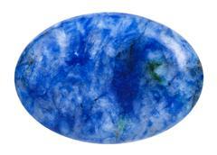 Oval lapis lazuli (lazurite) mineral gemstone Stock Photos