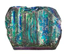 Sample of iridescent pyrite mineral stone Stock Photos