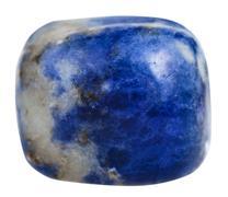 specimen of Sodalite mineral gem stone - stock photo