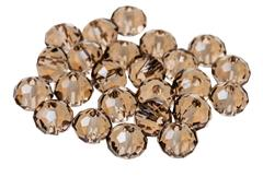 Faceted beads from zircon gemstone close up Stock Photos