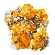 druse of spessartine mineral stone - stock photo