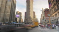 Timelapse street traffic cars vehicles Flatiron Building New York City cars NYC Footage