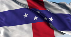 Ultra realistic looping flag: Netherlands Antilles Stock Footage