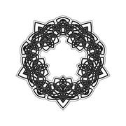 Stock Illustration of Ornate border. Gothic lace tattoo. Celtic weave with sharp corners