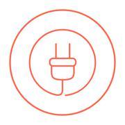 Plug line icon Stock Illustration