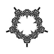Ornate border. Gothic lace tattoo. Celtic weave with sharp corners Stock Illustration