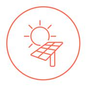 Solar energy line icon - stock illustration