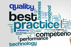 Best practice word cloud Stock Photos