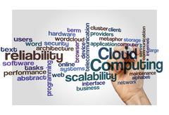 cloud computing scalability reliability background - stock photo