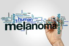 Melanoma word cloud - stock photo