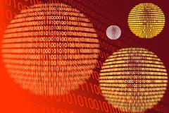 Detail of a binary code computer virus - stock illustration