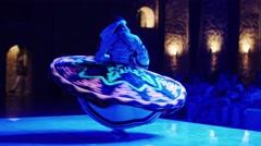 Hurghada, Egypt - February 27, 2016: Dervish dances Traditional Dance Skirts Stock Footage