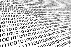 Detail of a binary code computer virus Stock Illustration