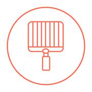 Empty barbecue grill grate line icon - stock illustration