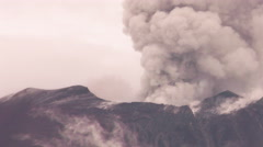 Powerful Volcanic Explosions On Tungurahua Crater - stock footage