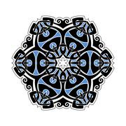 Stock Illustration of Ornate mandala. Gothic lace tattoo. Celtic weave with sharp corners