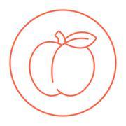Apple line icon Stock Illustration