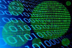 Detail of a binary code computer virus Stock Illustration