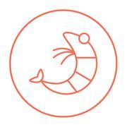 Shrimp line icon - stock illustration