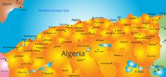 Map of Algeria country Piirros