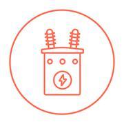 High voltage transformer line icon Stock Illustration