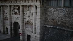 Monumental Land Gate , Zadar, Croatia Stock Footage