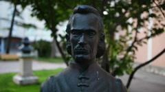 Stock Video Footage of statue of Michael Pavlinovic in Zadar, Croatia