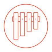 Vibraphone line icon Stock Illustration