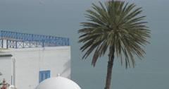 Close Up Shot Of Sidi Bou Said Sea Stock Footage